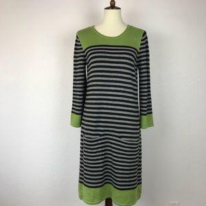 Eliza J Striped Knit Stretch Pockets Dress D332